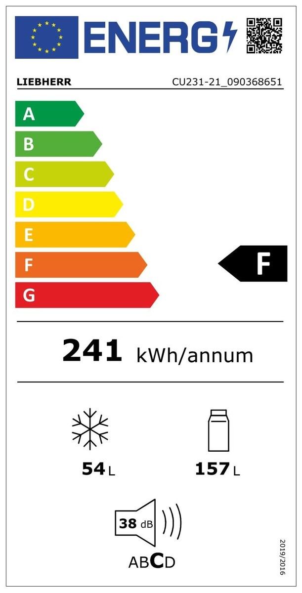 Liebherr CU231-21 Kombinált hűtő-fagyasztó készülék SmartFrost funkcióval