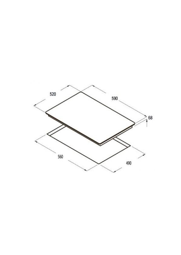 Cata IB 603 BK indukciós kerámia főzőlap