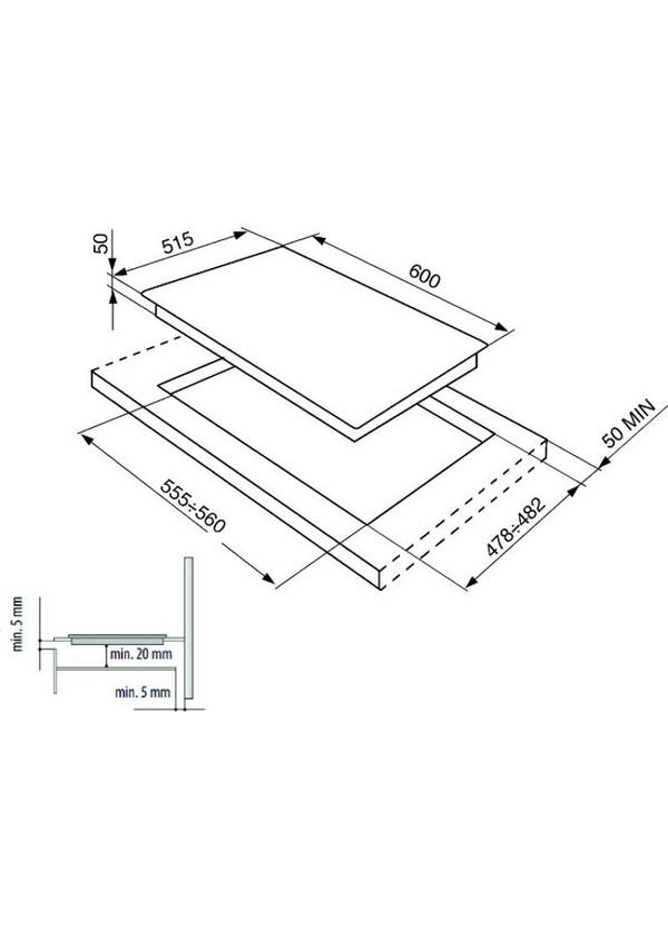 Smeg SI5641D Indukciós főzőlap