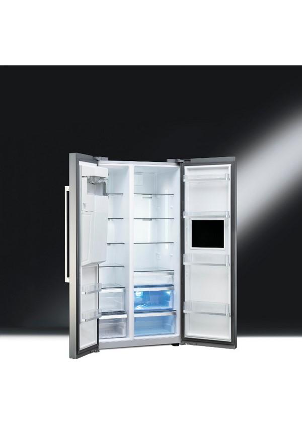 Smeg SBS63XED Szabadonálló kombinált side by side hűtő és fagyasztó