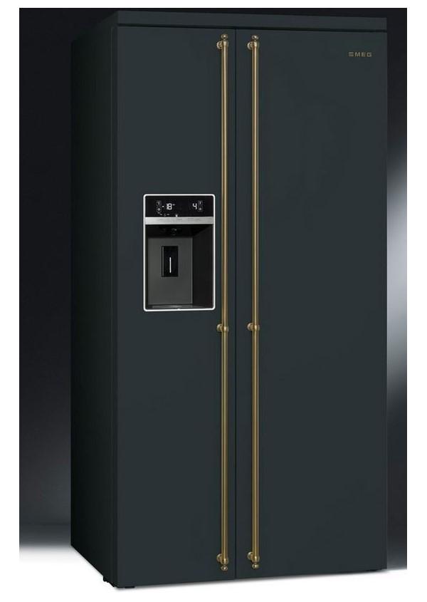 Smeg SBS8004AO Kombinált side by side hűtő és fagyasztó