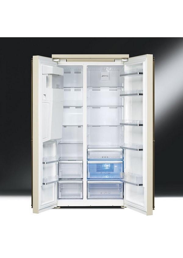 Smeg SBS8004PO Kombinált side by side hűtő és fagyasztó