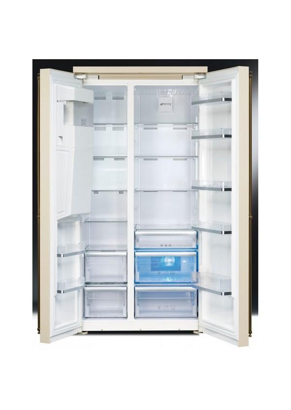 Smeg SBS8004P Kombinált side by side hűtő és fagyasztó