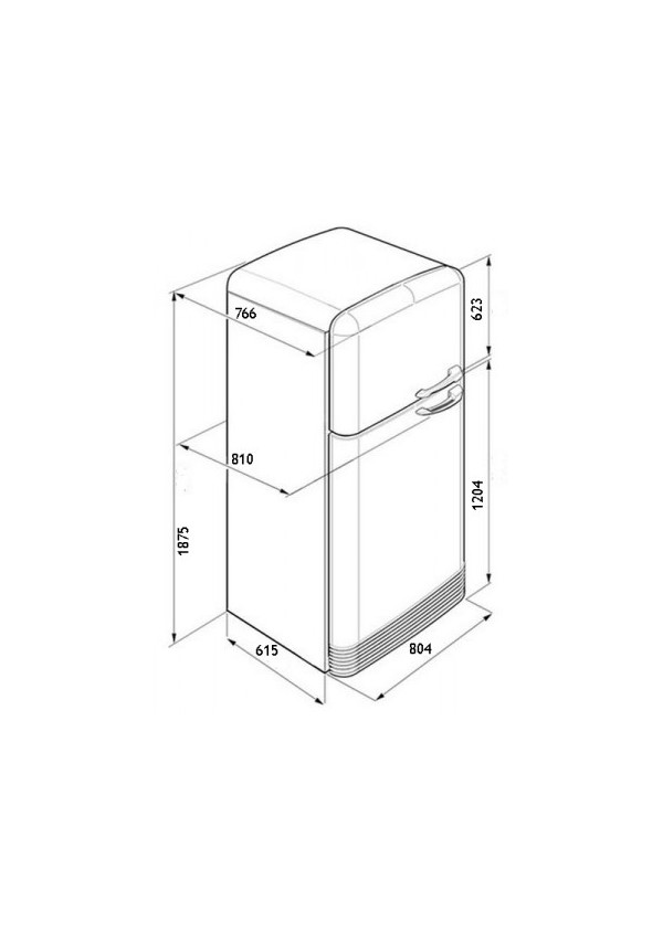 Smeg FAB50BS Kombinált hűtő és fagyasztó