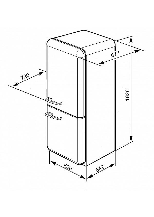 Smeg FAB32RBE3 Kombinált hűtő és fagyasztó