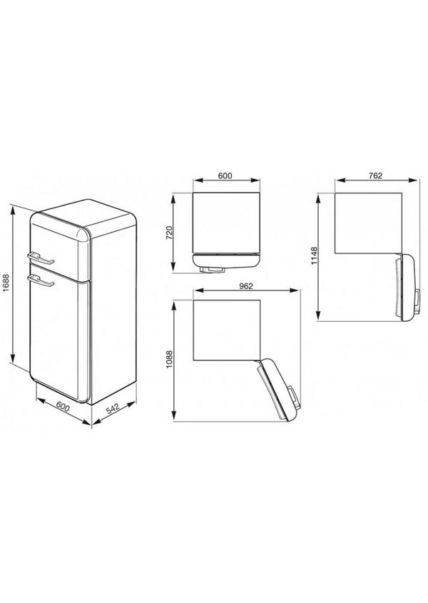 Smeg FAB30RVE1 Kombinált hűtő és fagyasztó