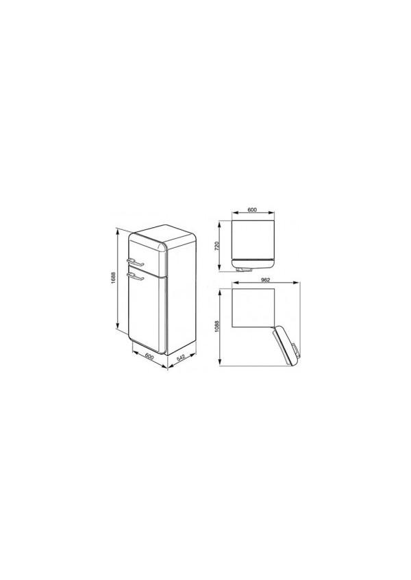 Smeg FAB30RBL1 Kombinált hűtő és fagyasztó