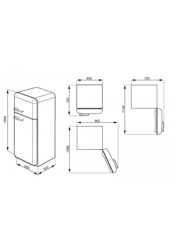 Smeg FAB30RV1 Kombinált hűtő és fagyasztó