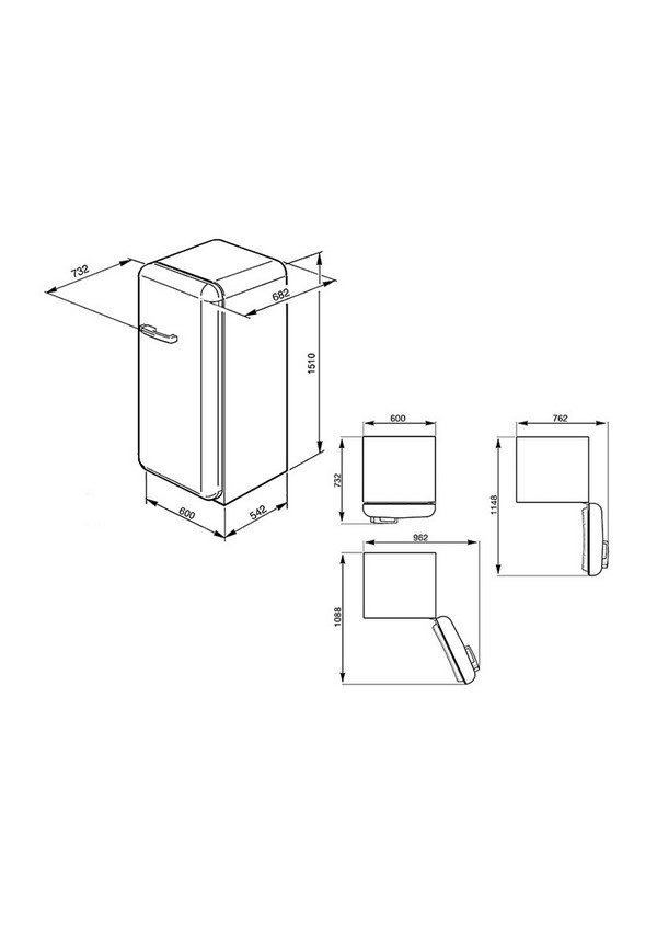 Smeg FAB28RDG Kombinált hűtő és fagyasztó
