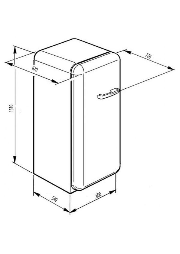 Smeg FAB28LO1 Retro hűtő és fagyasztó
