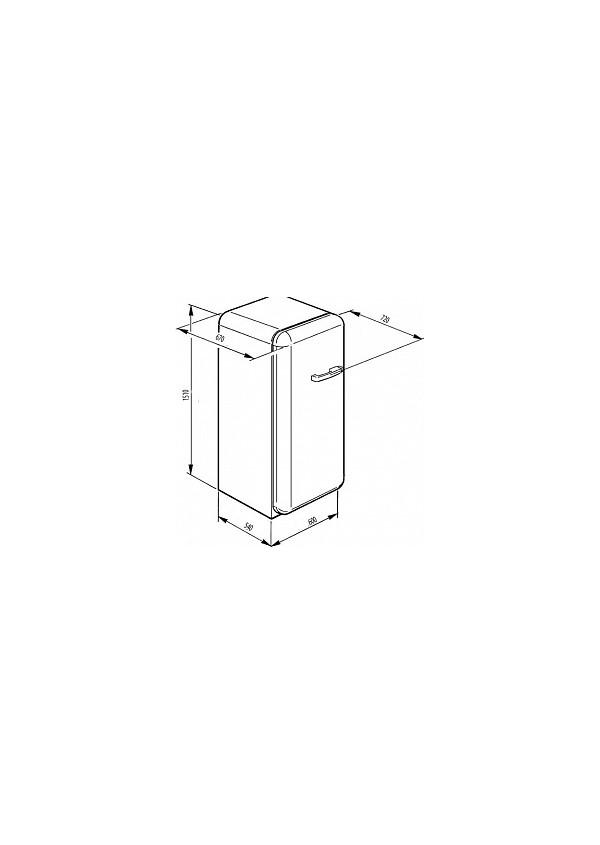 Smeg FAB28LRD3 Retro hűtő és fagyasztó