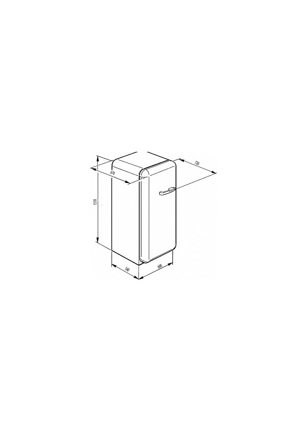 Smeg FAB28LPK3 Retro hűtő és fagyasztó