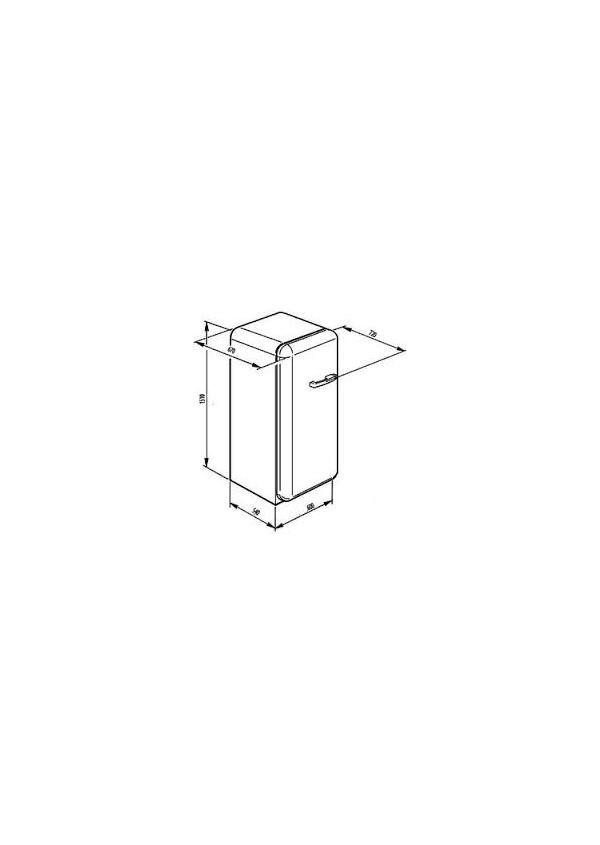 Smeg FAB28LCS1 Retro hűtő és fagyasztó
