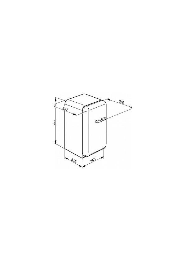 Smeg FAB10LUJ Kombinált hűtő és fagyasztó