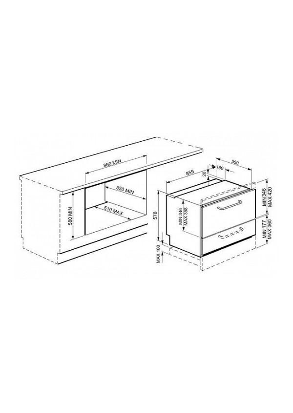 Smeg STO905-1 Teljesen beépíthető mosogatógép