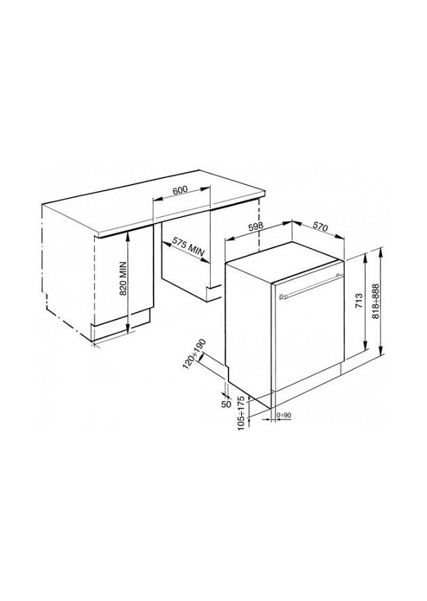 Smeg STA13XL2 Teljesen beépíthető mosogatógép