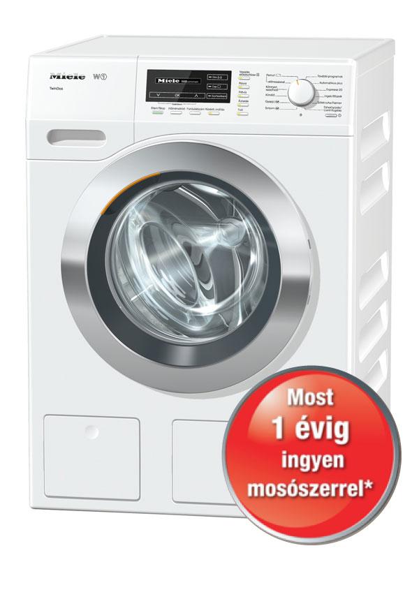 Miele WKG 130 ChromeEdition Szabadonálló mosógép, TwinDos rendszerrel
