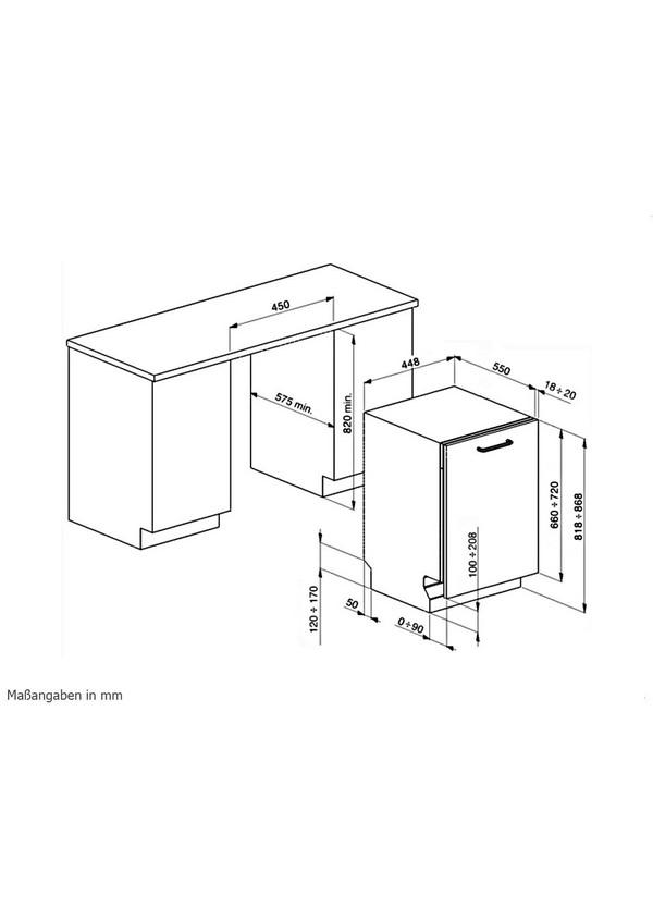 Smeg STA4523 Teljesen beépíthető mosogatógép