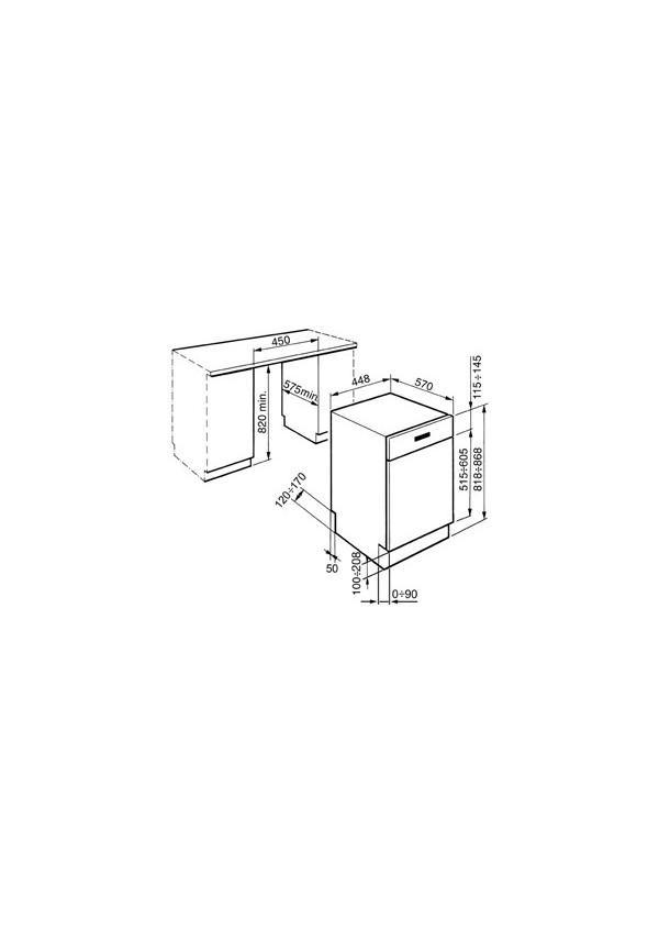 Smeg PLA4525X Beépíthető mosogatógép