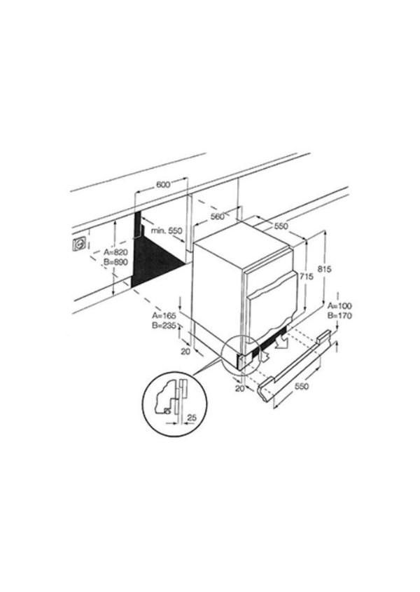 Smeg U3F082P Munkalap alá beépíthető fagyasztó