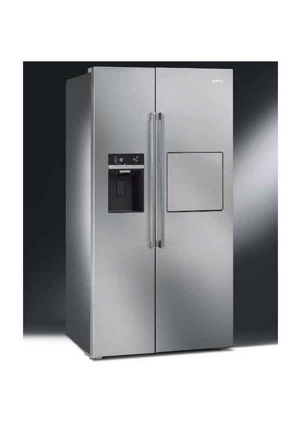 Smeg SBS63XEDH Szabadonálló kombinált side by side hűtő és fagyasztó