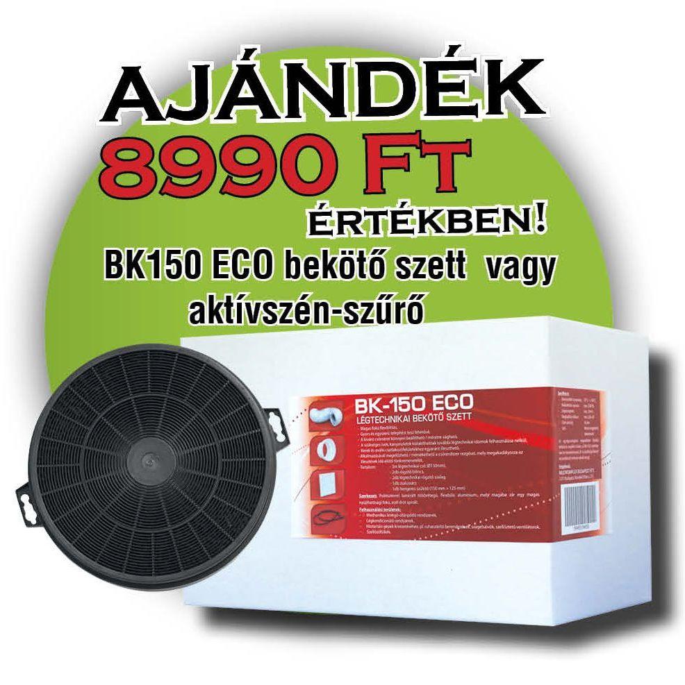 Cata GAMMA GLASS 900 GX/E Fali páraelszívó + ajándék BK 150 ECO bekötő szett vagy szénszűrő