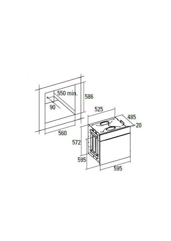Cata HGR 110 AS WH Beépíthető multifunkciós elektromos sütő