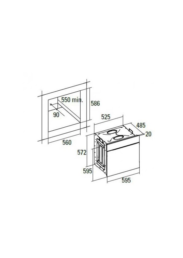 CATA HGR 110 AS BK Beépíthető multifunkciós elektromos sütő