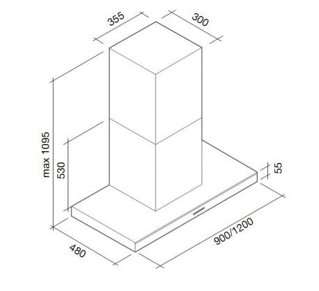 Falmec LUMINA EVO NRS 120 Fali páraelszívó, fekete + ajándék indukciós főzőlap