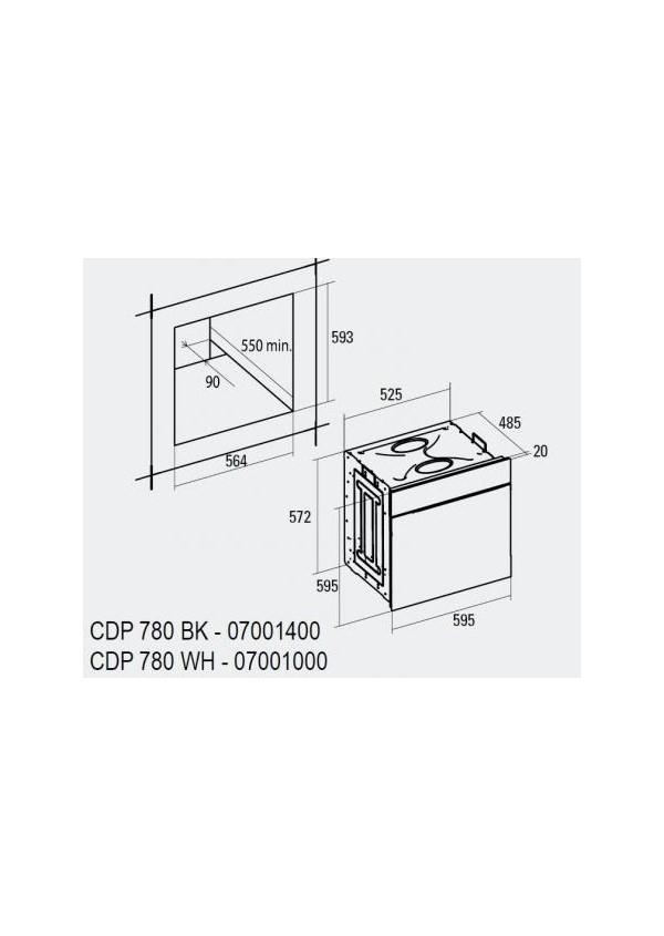 Cata CDP 780 AS WH Beépíthető multifunkciós elektromos sütő