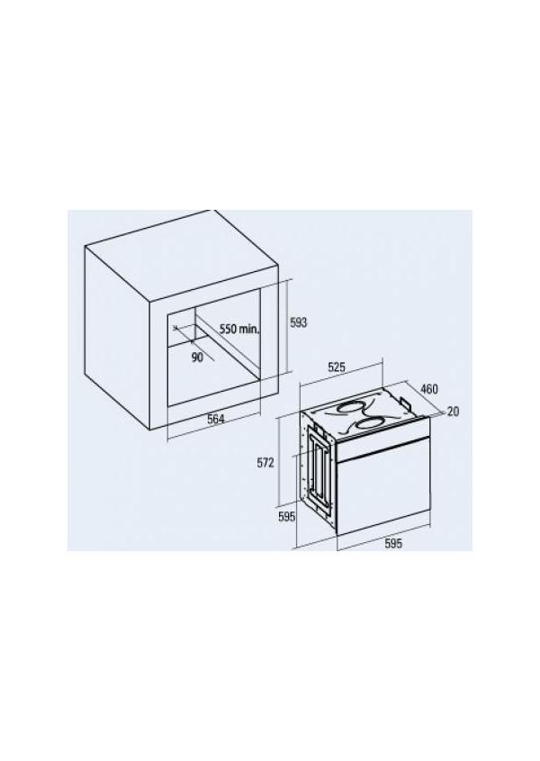 Cata CD 760 AS BK beépíthető multifunkciós elektromos sütő
