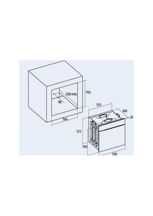Cata MR 608 I BK Beépíthető multifunkciós elektromos sütő