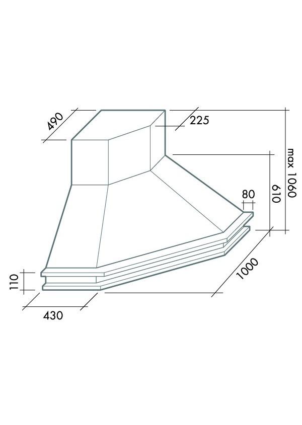Falmec TEMPO ANTICO SAROK T450 Sarok páraelszívó