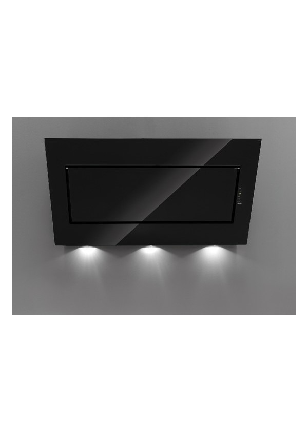 Falmec QUASAR EVO GLASS 120 Fali páraelszívó, fekete