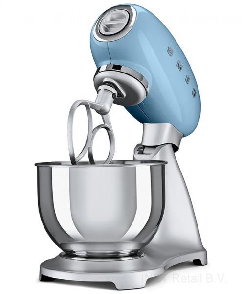 Smeg SMF02PBEU Retro 50-es évek konyhai robotgép, kék