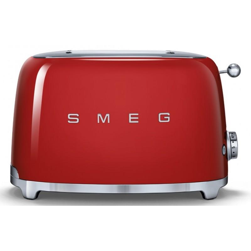 Smeg TSF01RDEU Retro 50-es évek Kenyérpirító, 2 szeletes, piros