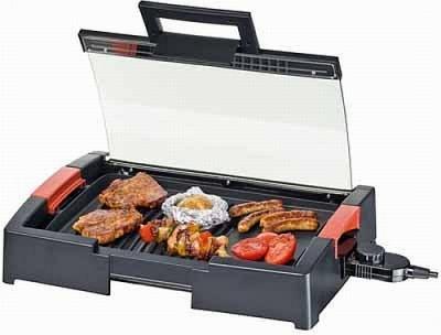 Steba VG 120 BBQ asztali grill üvegfedéllel
