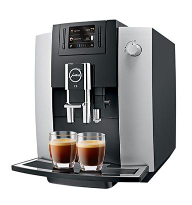 Jura E6 AromaG3 Kávéfőzőgép, platina
