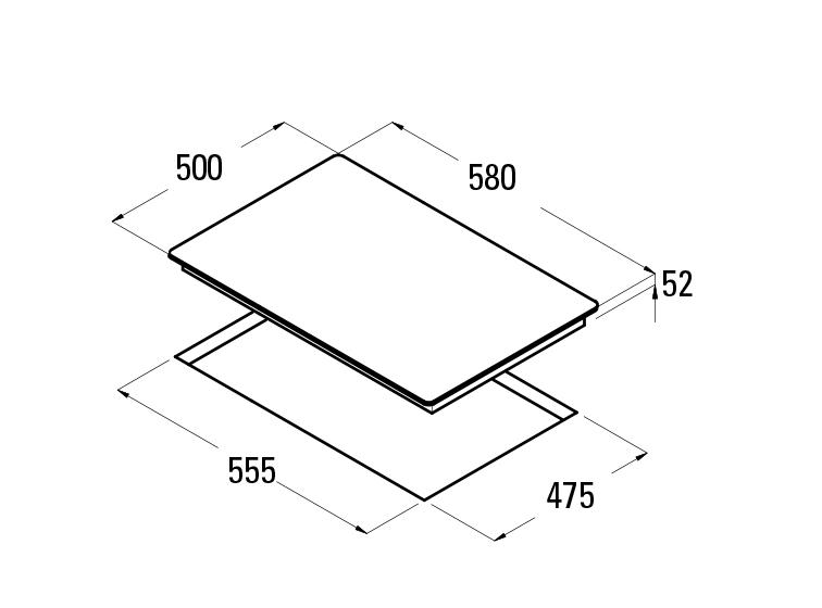 Cata GI 6004 X Gázfőzőlap, inox