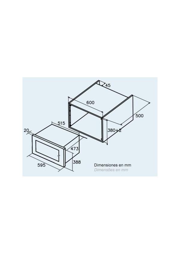 CATA MC 25 GTC WH Beépíthető mikrohullámú sütő