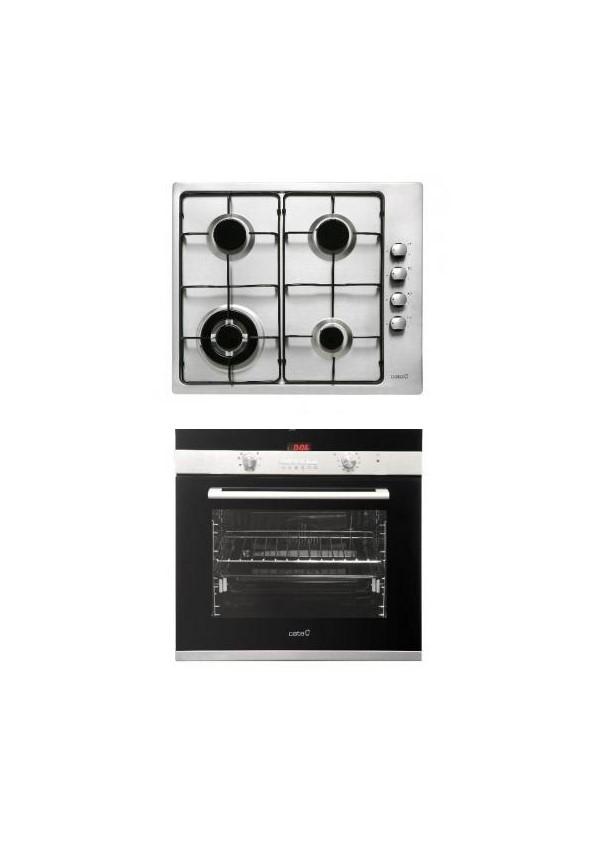 Cata CDP 780 AS BK Beépíthető sütő + GI 631 X gázfőzőlap szett