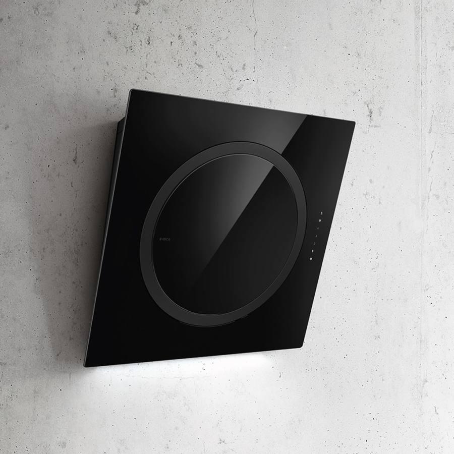 Elica OM AIR SENSE BL/F/75 döntött ernyős páraelszívó - fekete