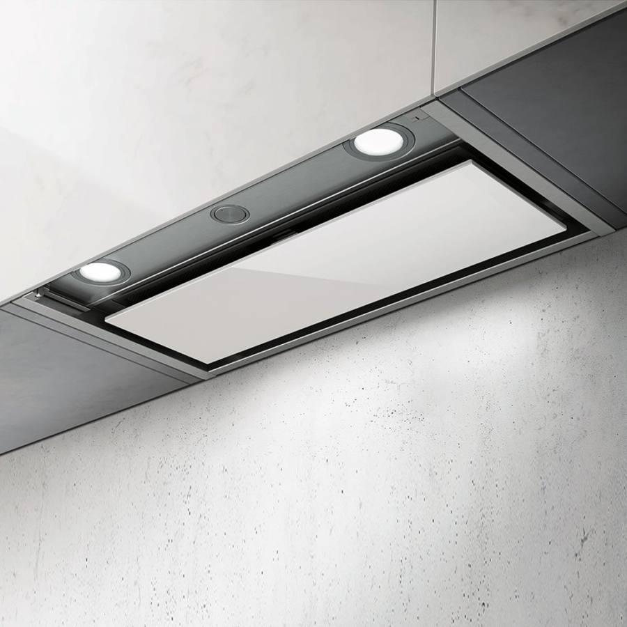 Elica Box In Plus IXGL/A/120 felső szekrénybe építhető páraelszívó - inox / fehér üveg