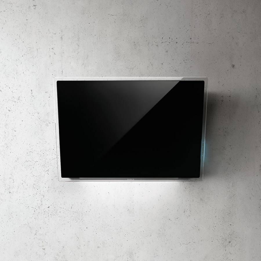 Elica Elle BL/F/80 döntött ernyős páraelszívó - fekete üveg