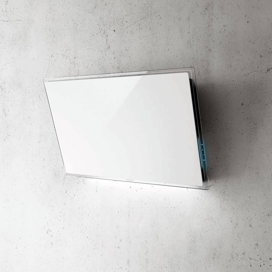 Elica Elle WH/F/80 döntött ernyős páraelszívó - fehér üveg